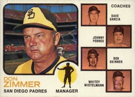 1973 Topps Padres Manager/Coaches #12e Baseball Card