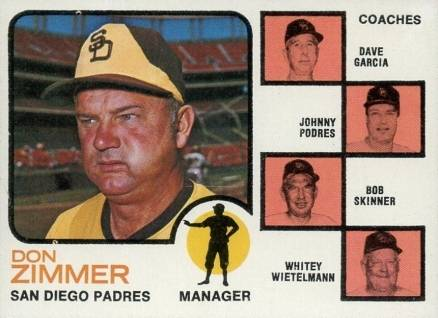 1973 Topps Padres Manager/Coaches #12n Baseball Card