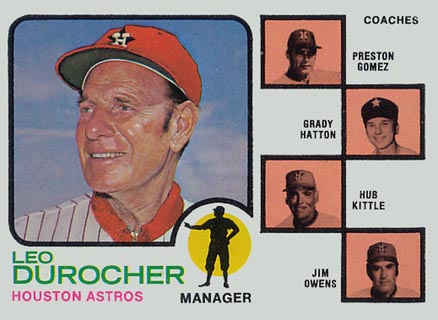 1973 Topps Astros Manager/Coaches #624 Baseball Card