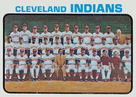1973 Topps Cleveland Indians Team #629 Baseball Card