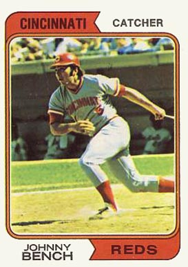 1974 Topps Johnny Bench #10 Baseball Card