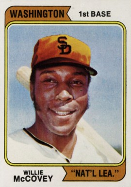 1974 Topps Willie McCovey #250-wash Baseball Card