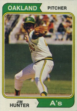 1974 Topps Jim Hunter #7 Baseball Card