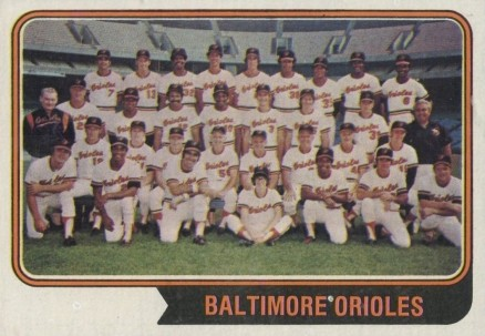 1974 Topps Baltimore Orioles Team #16 Baseball Card