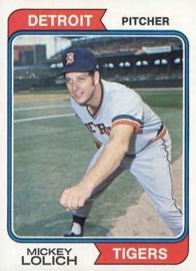 1974 Topps Mickey Lolich #9 Baseball Card