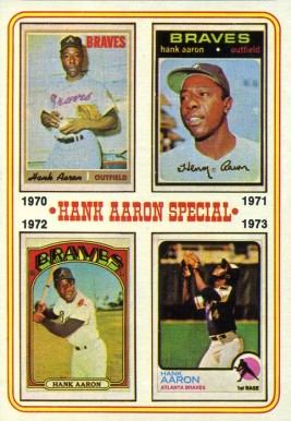 1974 Topps Hank Aaron #6 Baseball Card