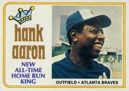 1974 Topps Hank Aaron #1 Baseball Card