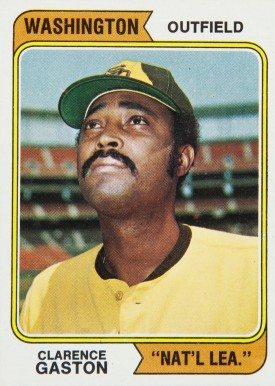 1974 Topps Cito Gaston #364-wash Baseball Card