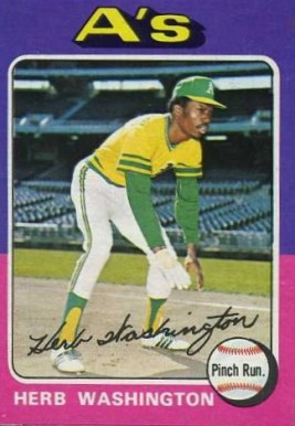 1975 Topps Mini Herb Washington #407 Baseball Card