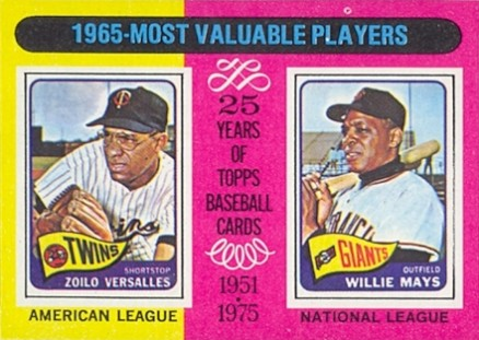 1975 Topps Mini 1965 Mvps #203 Baseball Card