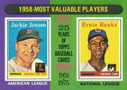 1975 Topps Mini Ernie Banks #196 Baseball Card