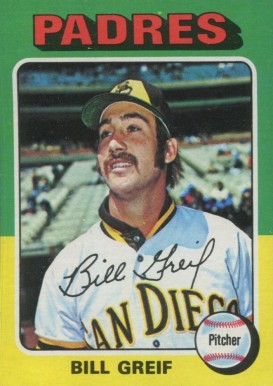 1975 Topps Mini Bill Greif #168 Baseball Card