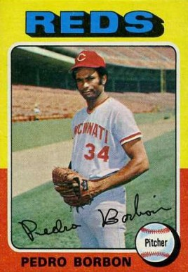 1975 Topps Mini Pedro Borbon #157 Baseball Card
