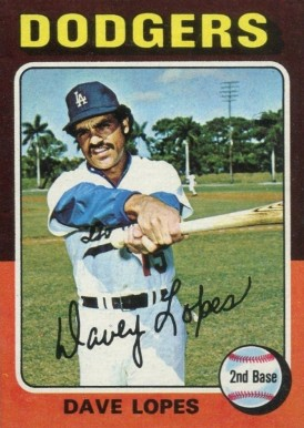 1975 Topps Mini Dave Lopes #93 Baseball Card
