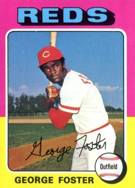 1975 Topps Mini George Foster #87 Baseball Card