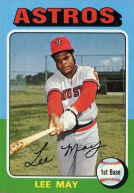 1975 Topps Mini Lee May #25 Baseball Card