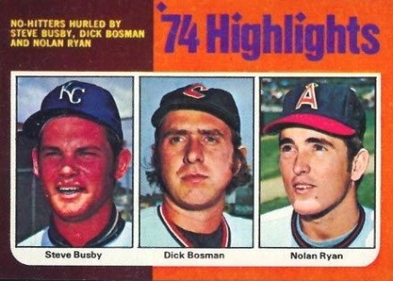 1975 Topps Mini Dick Bosman #7 Baseball Card