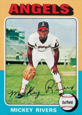 1975 Topps Mini Mickey Rivers #164 Baseball Card