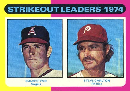 1975 Topps Strikeout Leaders #312 Baseball Card