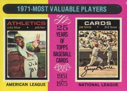 1975 Topps Vida Blue 209 Baseball Card Value Price Guide