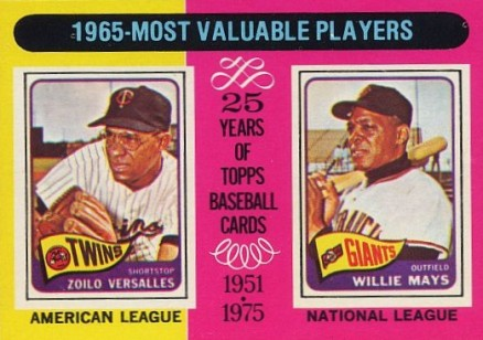 1975 Topps Willie Mays #203 Baseball Card
