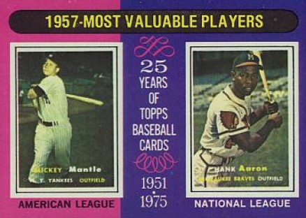 1975 Topps Hank Aaron #195 Baseball Card