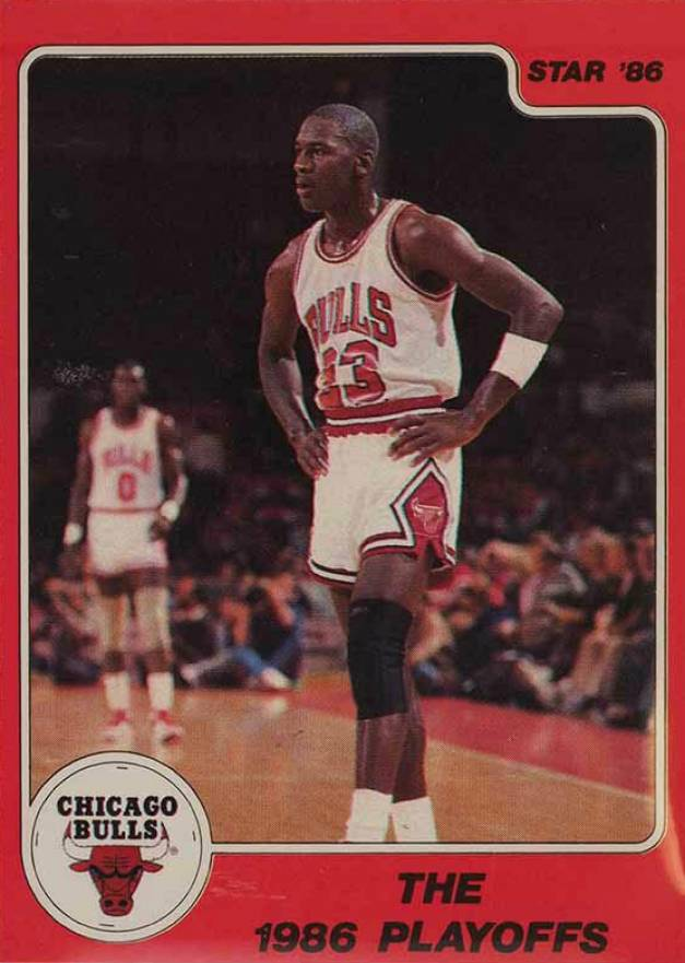 1986 Star Michael Jordan The 1986 Playoffs #8 Basketball Card