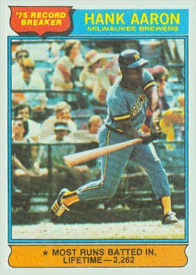1976 Topps Hank Aaron #1 Baseball Card