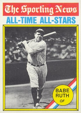 1976 Topps Babe Ruth #345 Baseball Card