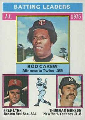 1976 Topps Rod Carew #192 Baseball Card