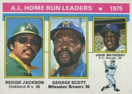 1976 Topps A.L. Home Run Leaders #194 Baseball Card