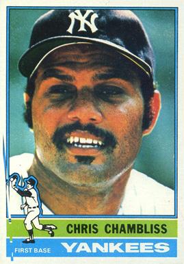Chris Chambliss Cleveland Indians 1971 Style Custom Baseball Art Card