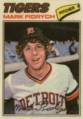 1977 Topps Cloth Stickers Mark Fidrych #15 Baseball Card