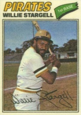 1977 Topps Cloth Stickers Willie Stargell #45 Baseball Card