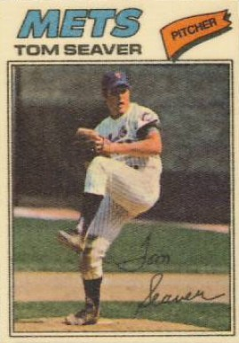1977 Topps Cloth Stickers Tom Seaver #42 Baseball Card