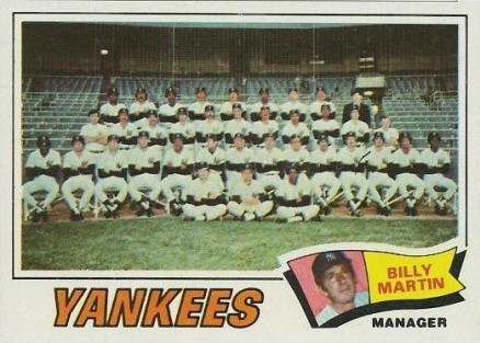 1977 Topps Billy Martin #387 Baseball Card