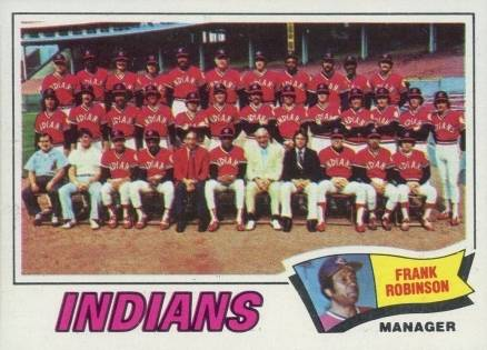 1977 Topps Cleveland Indians Team #18 Baseball Card