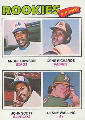 1977 Topps Rookie Outfielders #473 Baseball Card