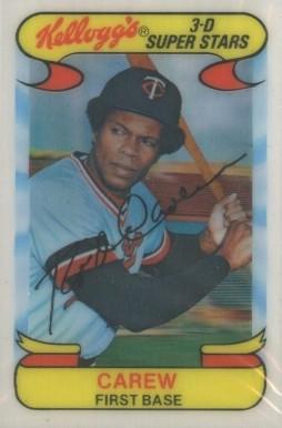 Rod Carew Hall Of Fame Baseball Cards