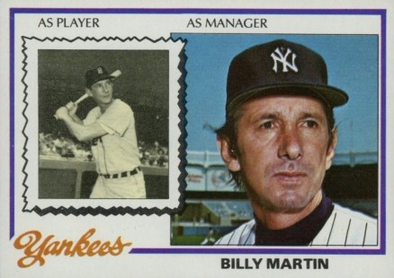 1978 Topps Billy Martin #721 Baseball Card