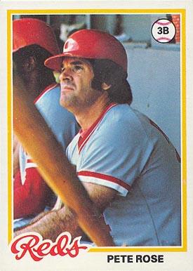 1978 Topps Pete Rose 20 Baseball Card Value Price Guide