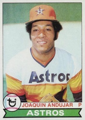 1980 Topps #617 Joaquin Andujar Baseball Cards Houston Astros