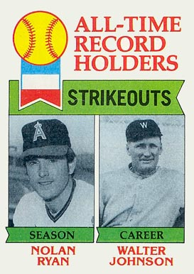 1979 Topps All Time Strikeout Leaders #417 Baseball Card