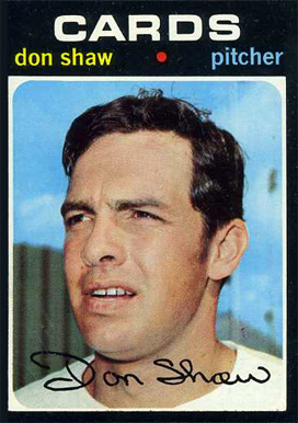 1971 Topps Don Shaw #654 Baseball Card