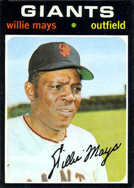 1971 Topps Willie Mays #600 Baseball Card