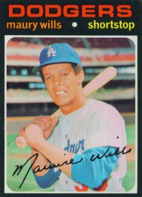1971 Topps Maury Wills #385 Baseball Card