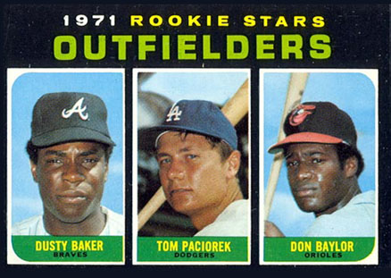 1971 Topps Rookie Stars Outfielders #709 Baseball Card