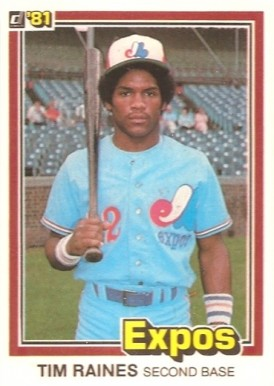 1981 Donruss Tim Raines #538 Baseball Card
