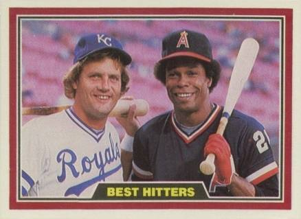 1981 Donruss Best Hitters Brett/Carew #537 Baseball Card