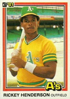 1981 Donruss Rickey Henderson #119 Baseball Card